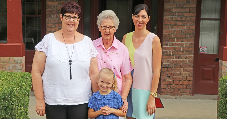 Four generations make history at St Joseph's  IMAGE