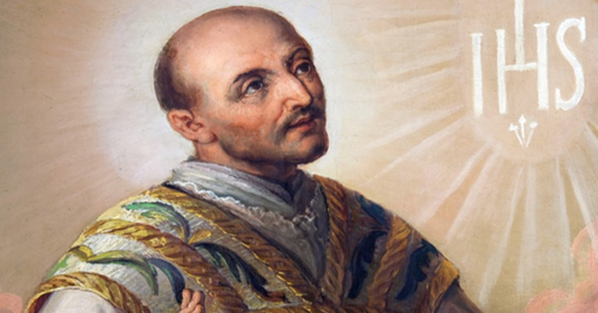 Today is the feast day of St Ignatius Loyola  IMAGE