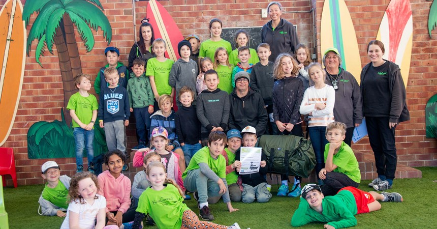 Students at St Joseph's Merewether help the homeless of Newcastle IMAGE