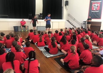 Newcastle Knights players adopt schools across the Diocese IMAGE