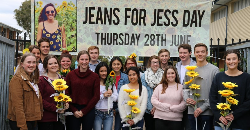 Newcastle schools don denim for Jeans for Jess day IMAGE