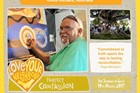 Internationally renowned Aboriginal artist Uncle Richard Campbell for Project Compassion 2017