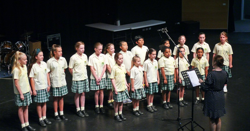 Showcase of song at St Pius  IMAGE