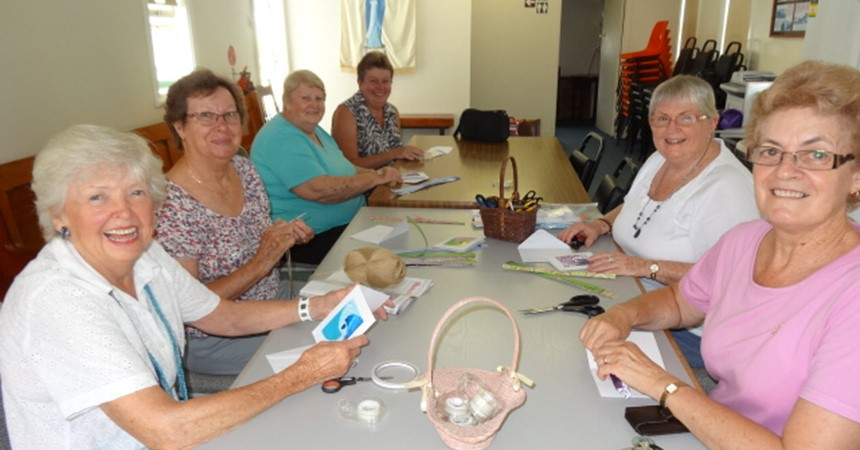 Crafty ladies meet in Women's Shed IMAGE