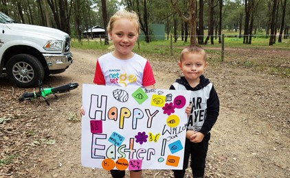 Image:Rosary Park celebrates Easter