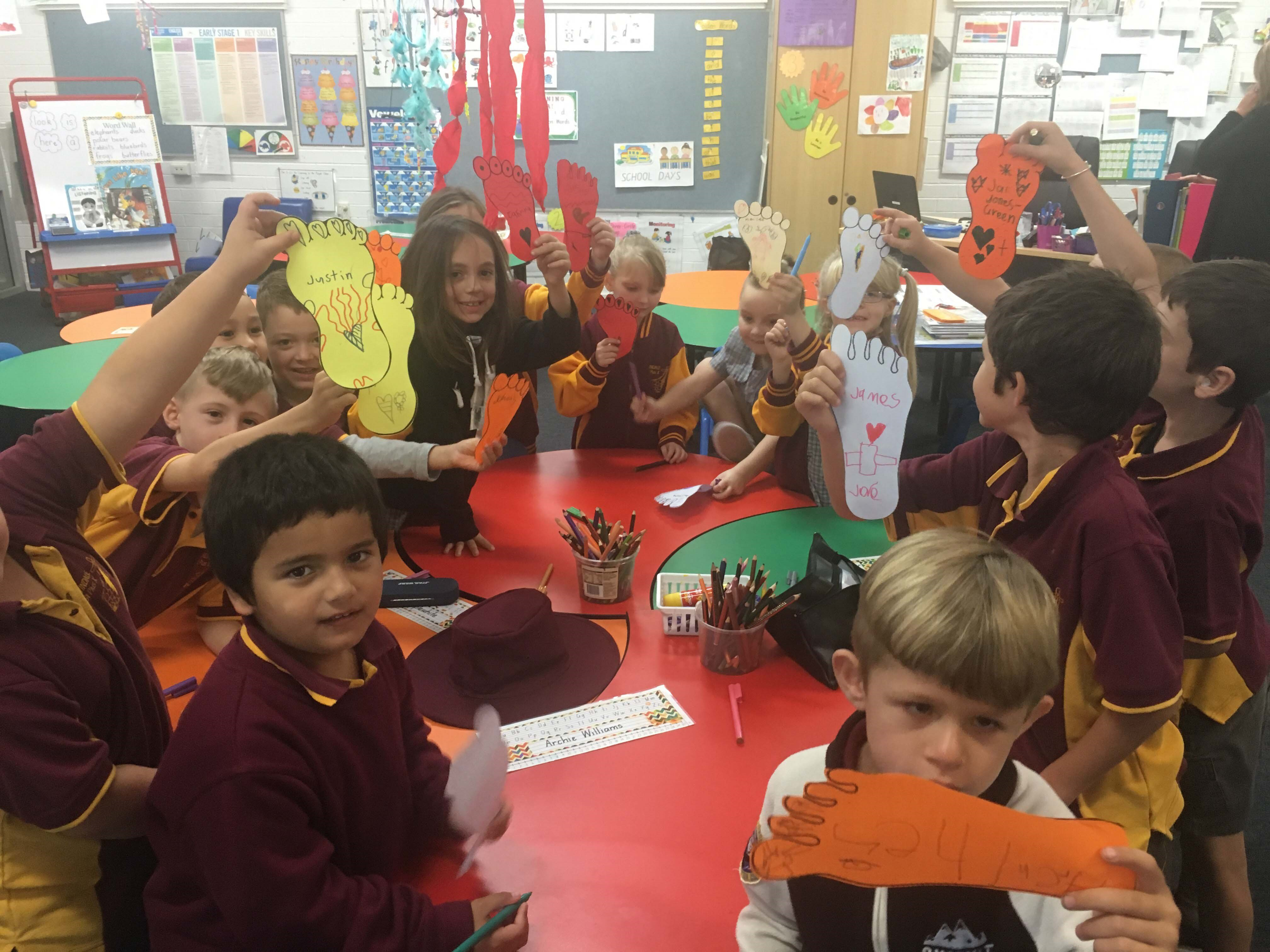 Image:St Pius X take steps for Reconciliation Week