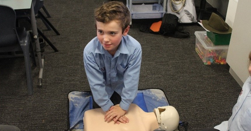 Students from St Joseph's learn to save lives IMAGE