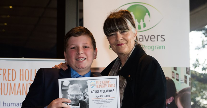 'Kick it for Mick' fundraisers earn St Patrick's student Fred Hollows Humanity Award nomination IMAGE