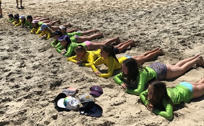 Image:Fun in the surf for St Benedict's Edgeworth