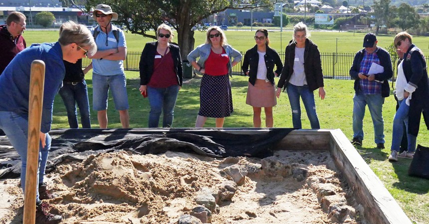 Archaeological dig at St Pius X High School IMAGE