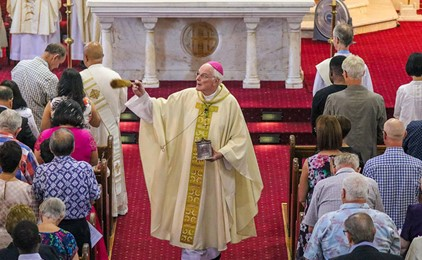 Long journey ends in joyous ordination ceremony in front of packed audience IMAGE