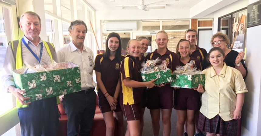 St Pius X Adamstown support charities in need IMAGE