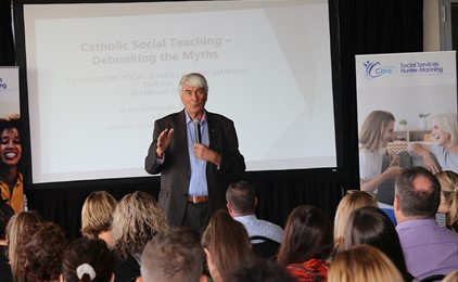 Catholic social teaching: debunking the myths at CatholicCare's staff conference Image
