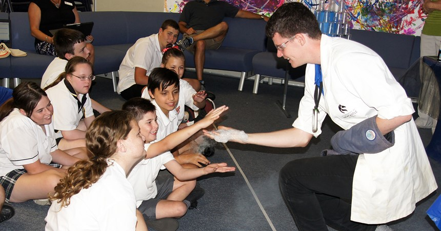 Science show at St Dominic's Centre IMAGE