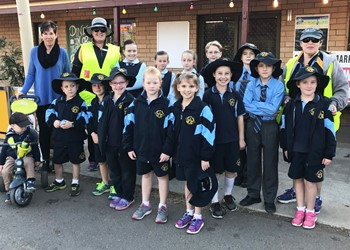 St Mary's students take a walk on the safe side IMAGE