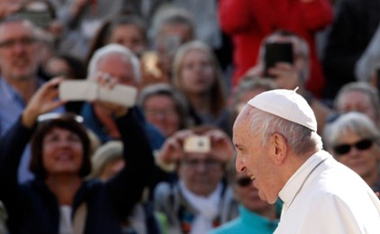 "Pope Francis says ""Welcome the surprises of Heaven this Christmas!"" IMAGE"