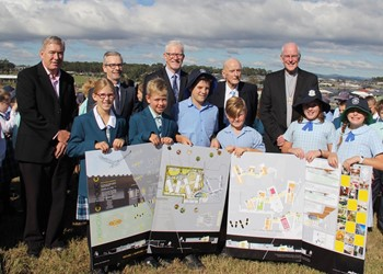 The name of the Hunter's newest secondary school is officially announced – St Bede's Catholic College, Chisholm  IMAGE