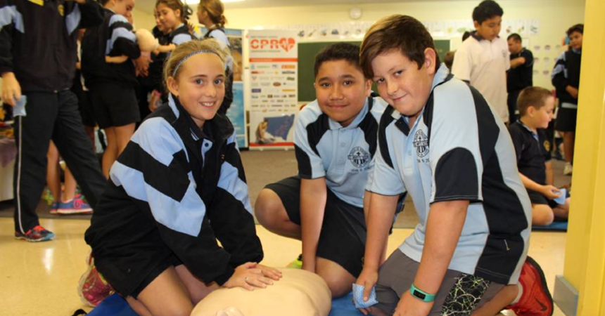 St Mary's students learn lifesaving skills as part of statewide initiative IMAGE