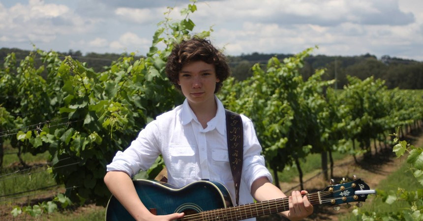 Finnian sings his way to Gympie  IMAGE