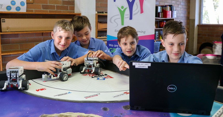 Robots win at St Kevin's Cardiff IMAGE