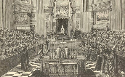 Papal infallibility at the First Vatican Council IMAGE