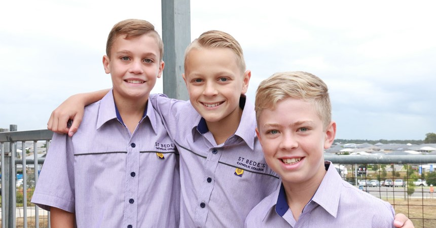 First day at St Bede's Catholic College  IMAGE