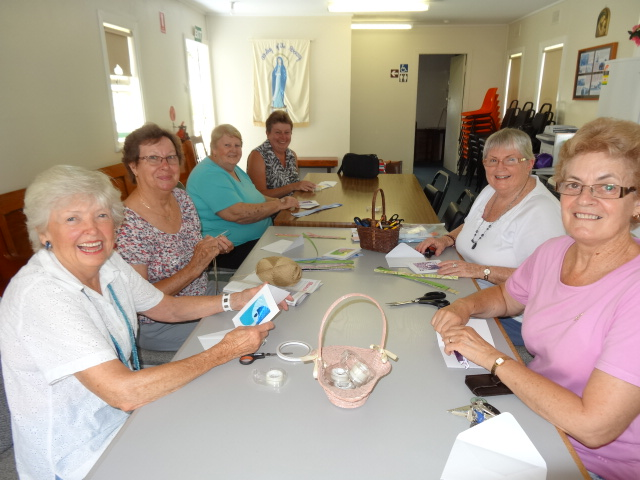 Crafty ladies meet in Women's Shed