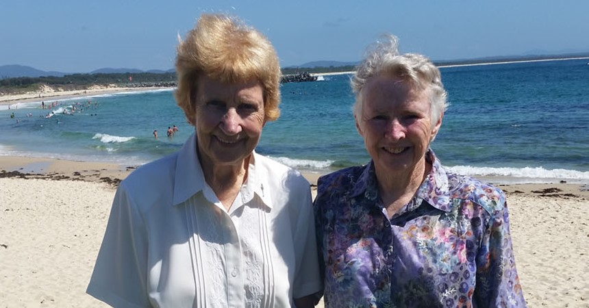 Sisters give and receive joy in Forster Tuncurry IMAGE