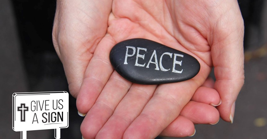 You're invited to Give Us A Sign for peace in May IMAGE
