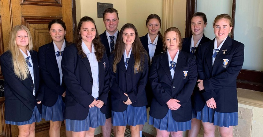 The future lawyers of St Joseph's Lochinvar IMAGE