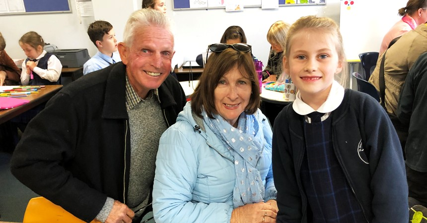 Grandparent's Day at St Francis Xavier's IMAGE
