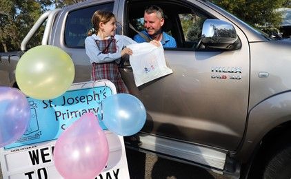 Image:Fathers drive festivities at St Joseph's Primary School