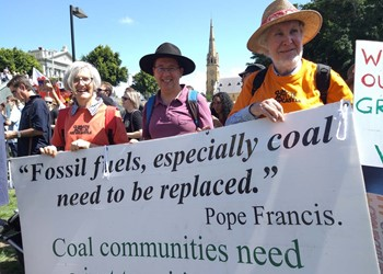 Tighes Hill Parishioners participate in School Students for Climate - Strike, Rally and March at Newcastle IMAGE