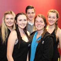 Michael Almond, Lilli Thompson, Billie Wheildon, Eden Whitchurch and Emily Shakespeare