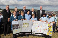 The name of the Hunter's newest secondary school is officially announced – St Bede's Catholic College, Chisholm
