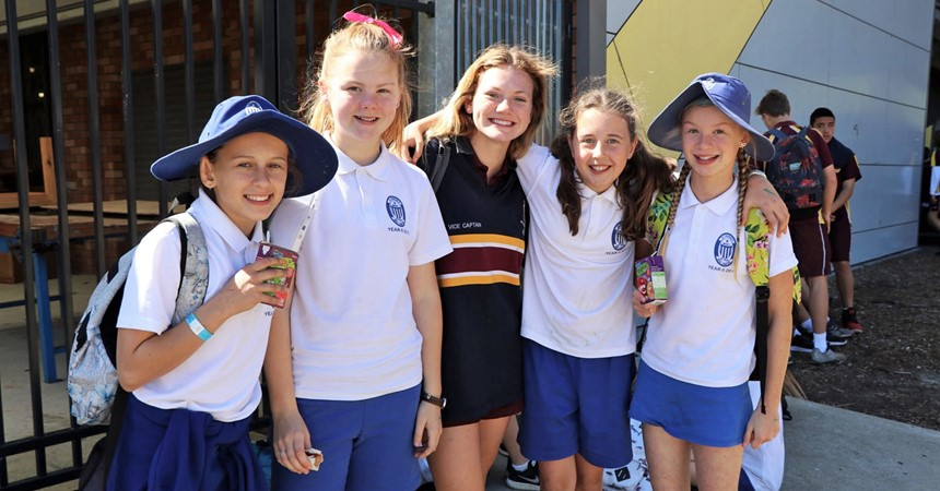 Year 6 students get a taste of high school at St Pius X IMAGE