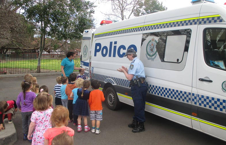 Connecting with the community - Police visit St Nicholas IMAGE