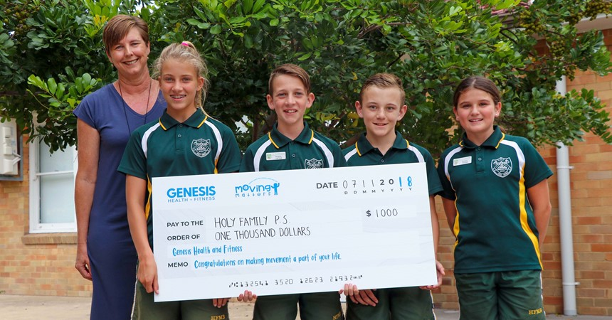 Holy Family win Genesis Moving Matters Competition IMAGE