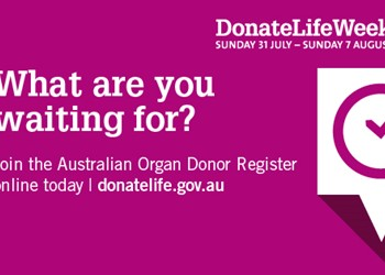 Help end the wait for those in need of a life-saving transplant IMAGE