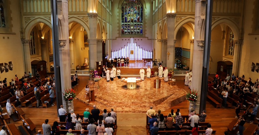 Maitland-Newcastle heads to ACYF: Day 3 (Mass at St Mary's Cathedral) IMAGE
