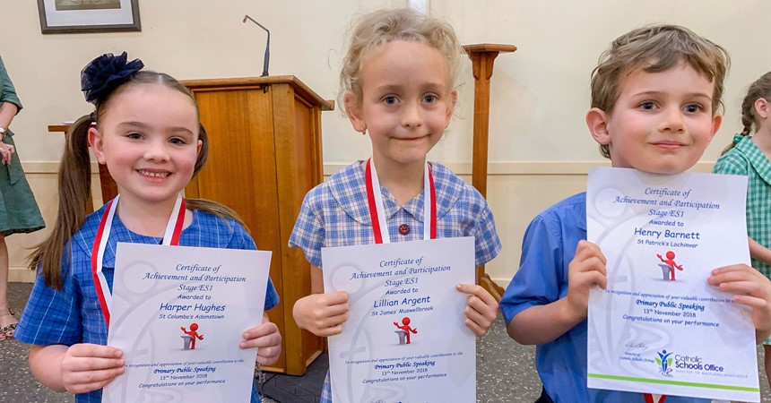Primary Public Speaking Competition IMAGE
