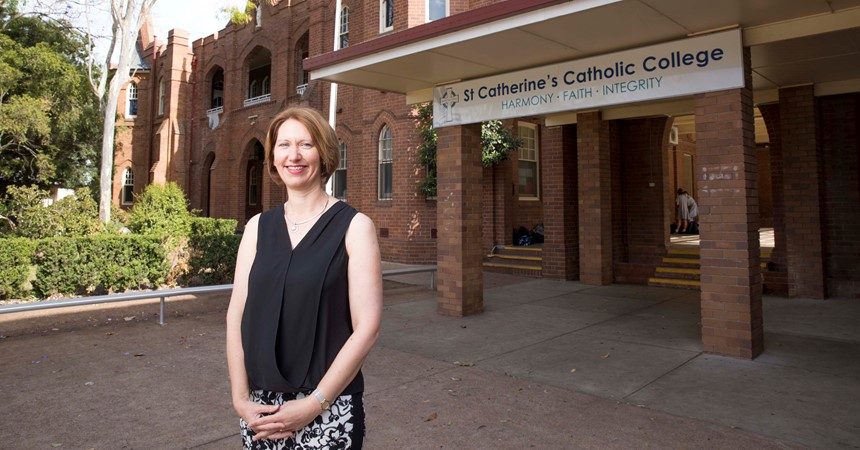 St Catherine's Singleton welcomes new principal IMAGE