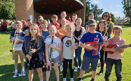 St Catherine's Singleton rocks out at Bandfest  Image