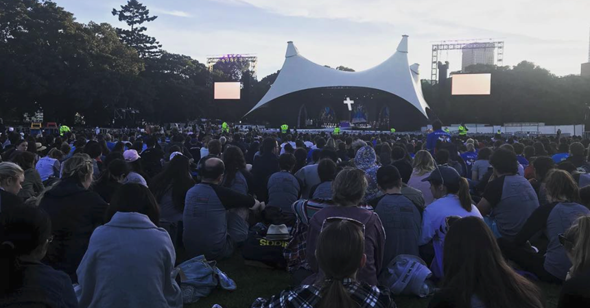 The Australian Catholic Youth Festival: pilgrimage and Closing Mass IMAGE