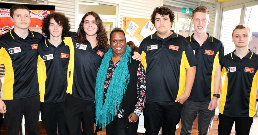 Gail Mabo visits St Francis Xavier's College IMAGE