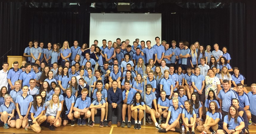 Gold medal Olympian visits St Paul's College IMAGE