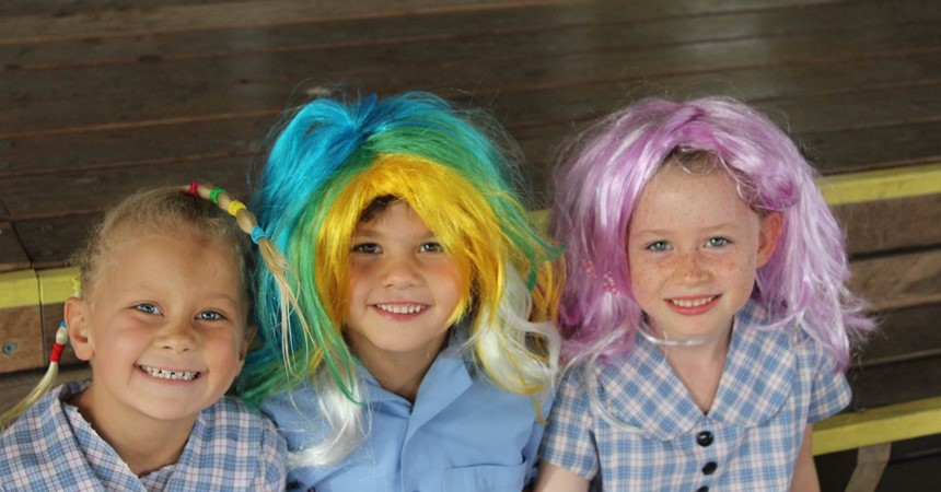 Crazy hair day - coins for Cambodia IMAGE