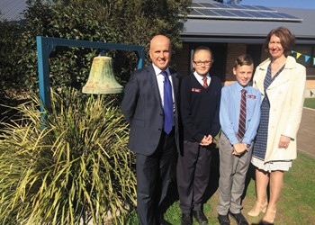 Minister for Education learns much from his visit to St James' Muswellbrook IMAGE