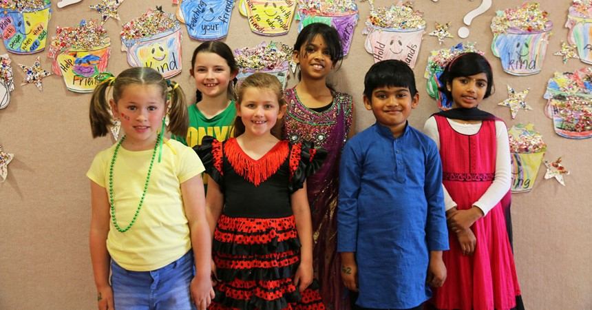 Celebrating diversity at St Patrick's Wallsend IMAGE