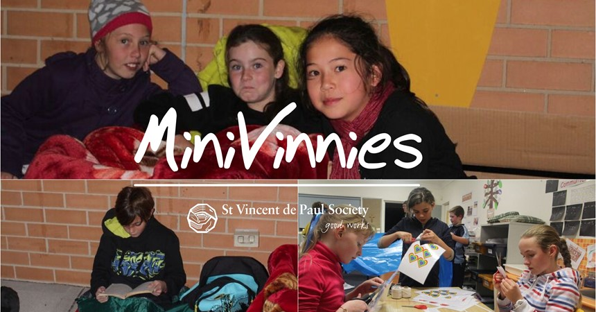 St Patrick's Mini Vinnies Winter Sleepout  IMAGE
